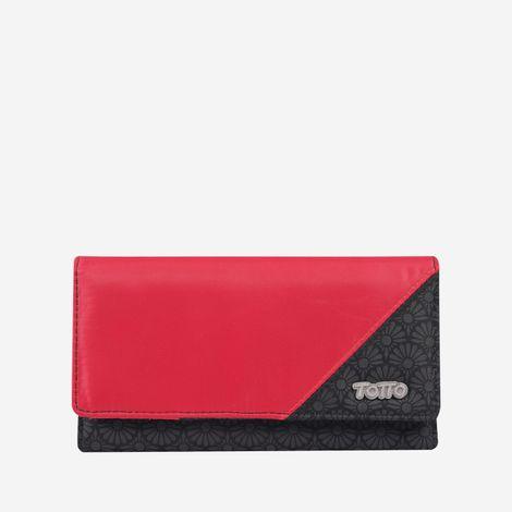 billetera-para-mujer-alargada-en-lona-balanza-rojo-Totto