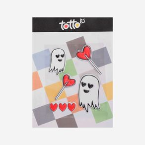 sticker-para-nina-adhesivo-de-espuma-fantasma-paleta-de-corazon-koichy-blanco-Totto