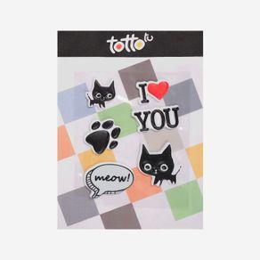 sticker-para-nina-adhesivo-de-espuma-gato-huella-perro-meow-gato-i-love-you-koichy-negro-Totto