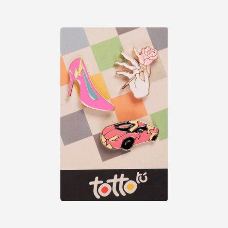 pin-para-nina-metalico-tacžn-carro-mano-rosa-hisoka-set-x-3-rosado-Totto