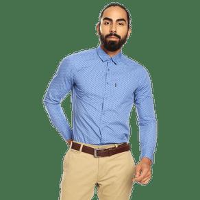 camisa-para-hombre-manga-larga-mini-print-porter-estampado-uum-kentucky-blue-mini-print
