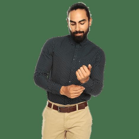 camisa-para-hombre-manga-corta-mini-print-porter-estampado-usm-night-sky-mini-print
