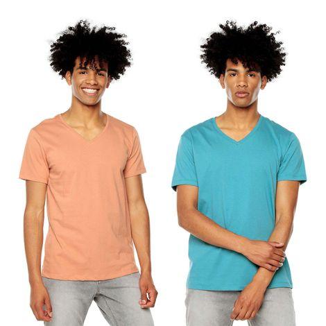 Polera-para-Hombre-Basica-Cuello-V-Mozav-Totto-Colors