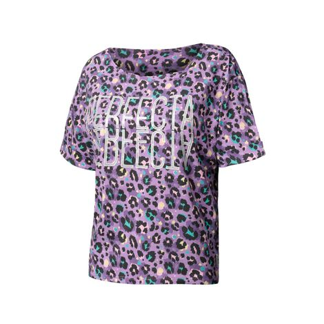 Camiseta-Para-Mujer-Cuello-Redondo-Yatra-Animal-Print