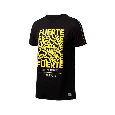 Camiseta-para-hombre-cuello-redondo-yatra-fuerte-negro-black